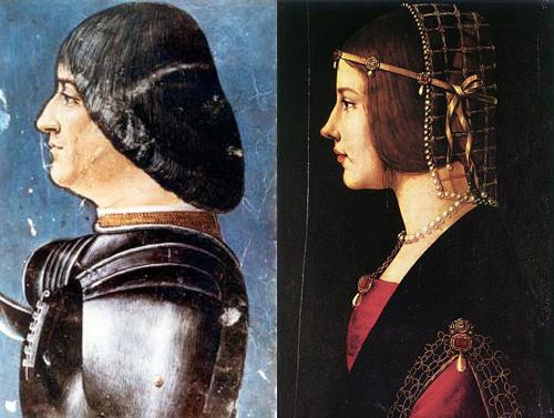 Ludovico és Beatrice, Giovanni Ambrogio de Predis portréi